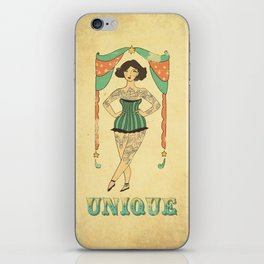 Unique the Tattooed Lady iPhone Skin