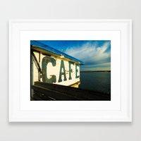 cafe Framed Art Prints featuring Cafe by k.szczpnc