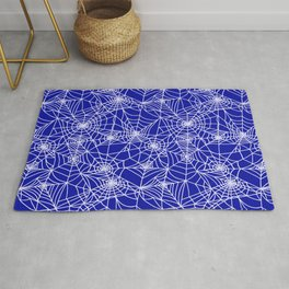 Royal Blue Cobwebs Rug