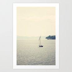 Hazy Sea Art Print