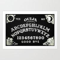 ouija Art Prints featuring ouija  by Clelia Bloo