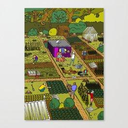 Allotment Hedz Canvas Print