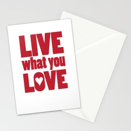 What You Love Stationery Cards