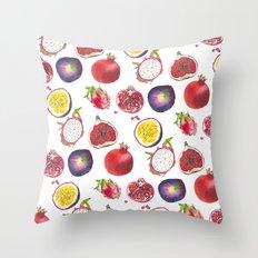 Mixed fruit pattern Throw Pillow