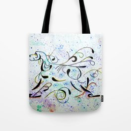 Colorful Abstract EC gaiting Tote Bag