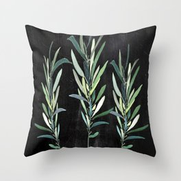 Eucalyptus Branches On Chalkboard Throw Pillow