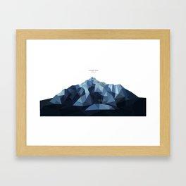 Pioneer Peak + The Butte Framed Art Print
