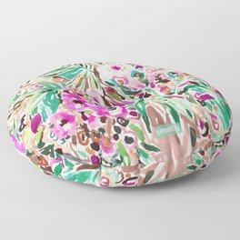 PLEASURE POINT Tropical Watercolor Floral Floor Pillow