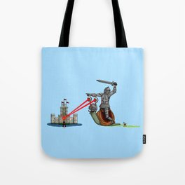 The Knight and the Snail - Random edition Tote Bag