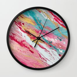 Spring coloured Wall Clock