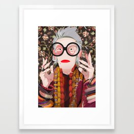Iris: Floral Framed Art Print
