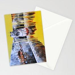 Mixed Media Art Yellow Rain Stationery Cards