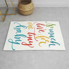 So much love typography Rug