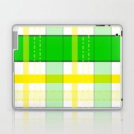 Yellow and Green Plaid Laptop & iPad Skin