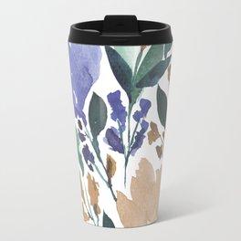 hand painted flowers_2b Travel Mug