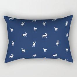 NAVY DEER PATTERN Rectangular Pillow