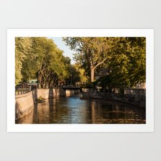 Lachine Canal Trees Art Print