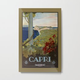 Isle of Capri Italian travel ad Metal Print