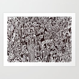 Eccentric animism (tribal pattern) Art Print
