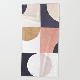Geometric Moontime 1 Beach Towel