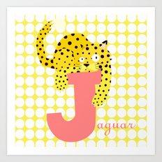 j for jaguar Art Print