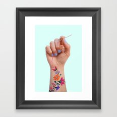 SEWING TATTOO Framed Art Print