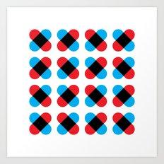 Cross pattern Art Print