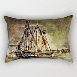 Tall ship USS Constitution Rectangular Pillow