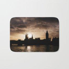 View over Westminster, Big Ben, London at Sunset Bath Mat