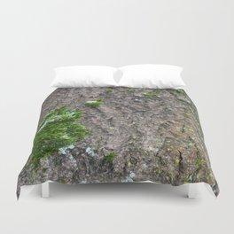 Bark with moss Duvet Cover