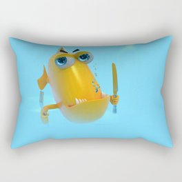 Hungry! The Dangerous Fish! NoLettering Rectangular Pillow