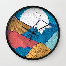The Crosshatch Sky Wall Clock