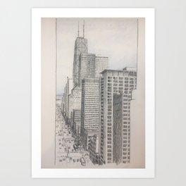 Chicago - North Michigan Avenue Art Print
