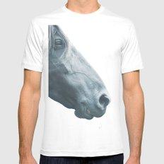 Horse head - fine art print n° 2 White Mens Fitted Tee MEDIUM