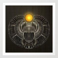 Sacred Scarab. Art Print