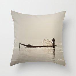 Inle Lake Myanmar Throw Pillow