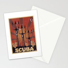Scuba Diving Propaganda Stationery Cards