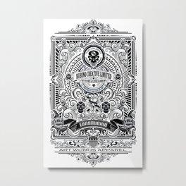 Rubino Gold Propaganda Metal Print
