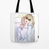 trip Tote Bags featuring Trip by Clara Serenellini
