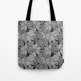 Black & White Leaves By Everett Co Tote Bag
