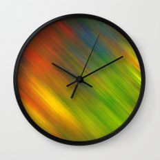 Diagonal Rainbow 3 Wall Clock