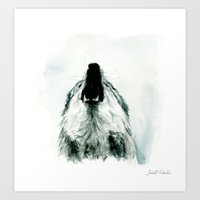 howl Art Prints featuring HOWL by Joelle Poulos