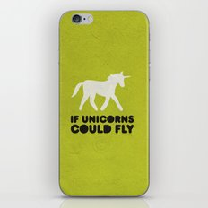 If unicorns could fly. iPhone & iPod Skin