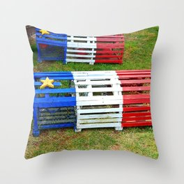 Acadian Lobster Traps Throw Pillow