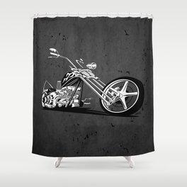 Custom American Chopper Motorcycle Shower Curtain