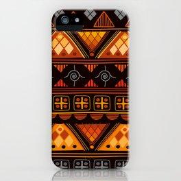 Modern Native American Pattern iPhone Case