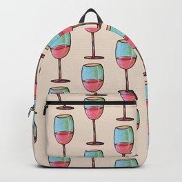 Abstract Modern Wine Art / Wine Tasting Backpack