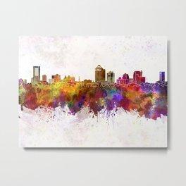New Haven skyline in watercolor background Metal Print