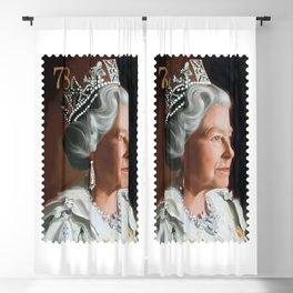 QUEEN ELIZABETH II STAMP Blackout Curtain