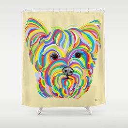 Yorkshire Terrier - YORKIE! Shower Curtain